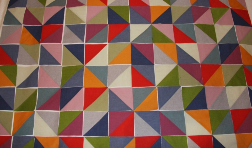 Layout out half-square triangles for Quilt #2. Geometriquilt.com