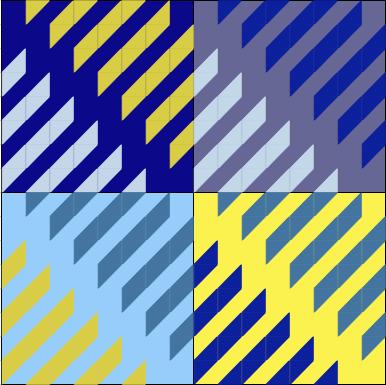 Geometriquilt Excel design layout