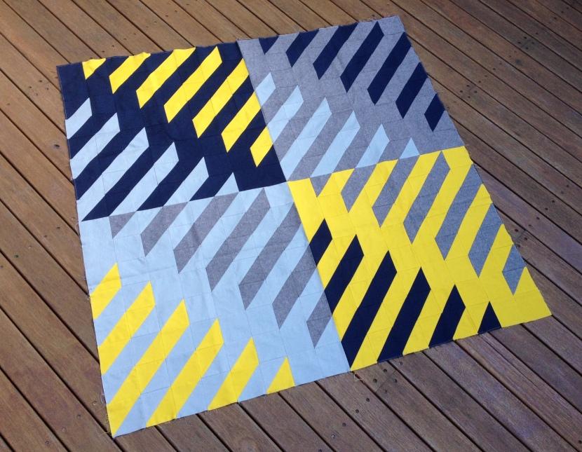 Geometriquilt: Finished quilt top