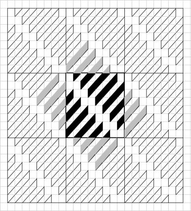 Geometriquilt Excel design