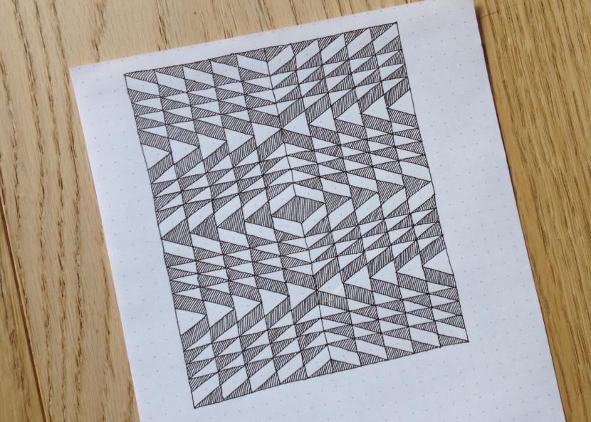 Geometriquilt: Sunday Sketch #7