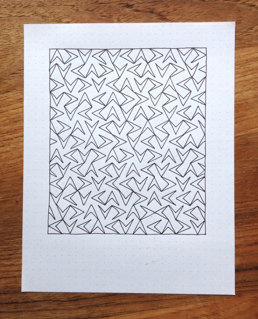 Geometriquilt: Sunday sketch #16