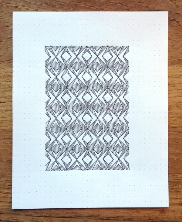 Geometriquilt: Sunday sketch #41