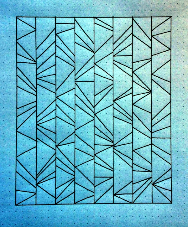 Geometriquilt: Sunday sketch #43