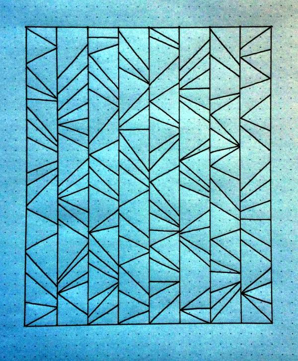 Geometriquilt: Sunday sketch #43