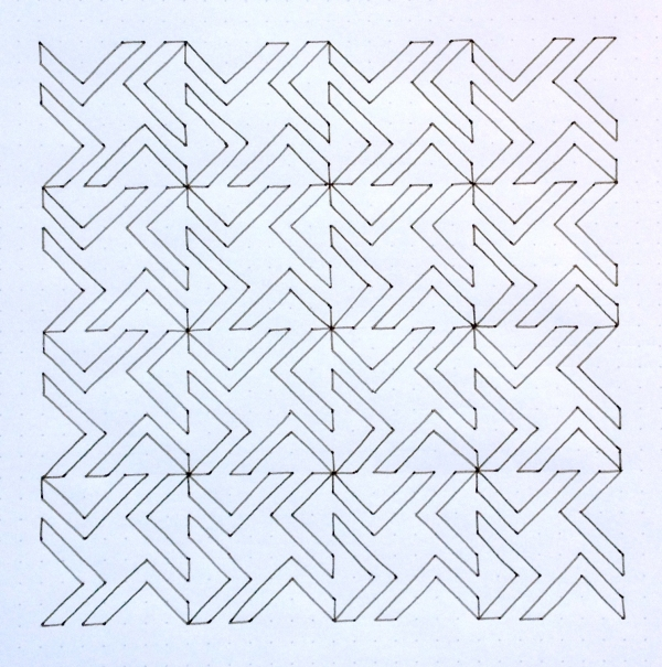 Geometriquilt: Sunday sketch #45