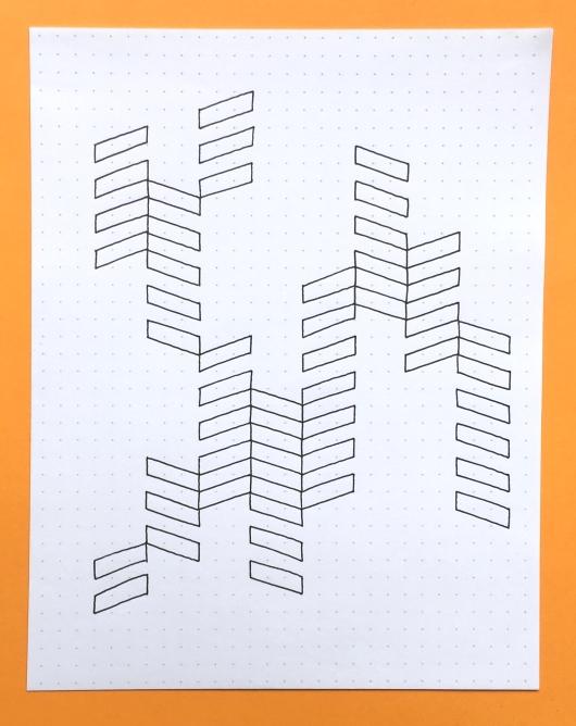 Geometriquilt: Sunday sketch #59-1