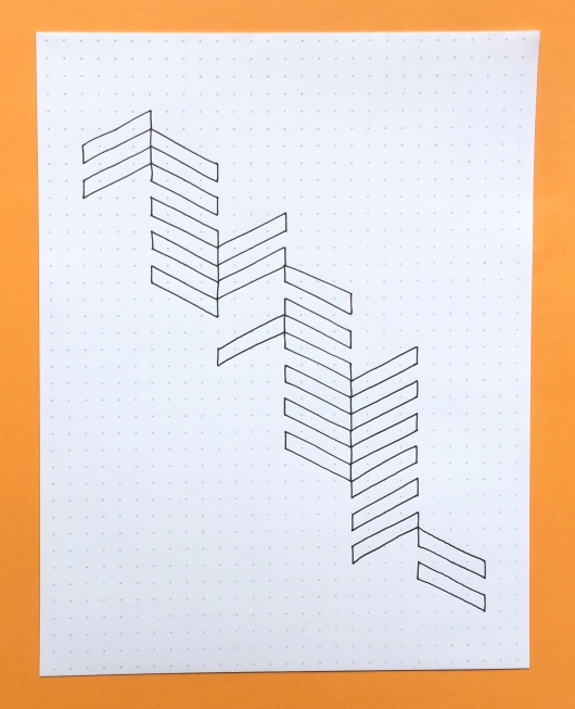 Geometriquilt: Sunday sketch #59-2