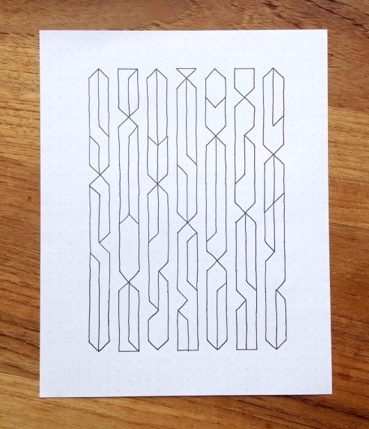 Geometriquilt: Sunday sketch #60