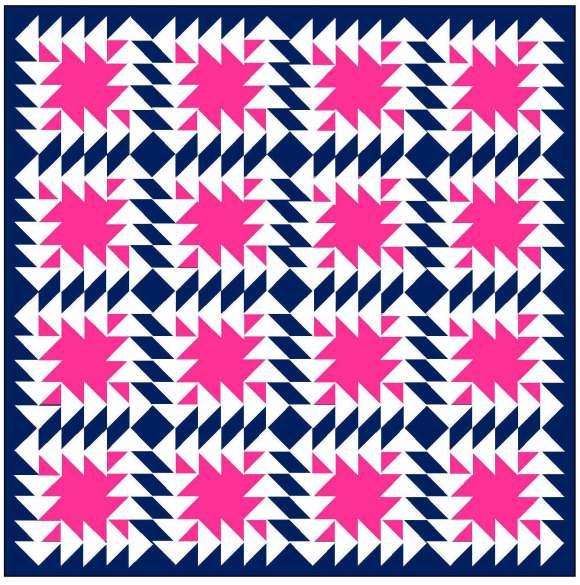 Geometriquilt: Sunday sketch #71-2