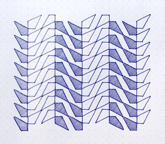 Geometriquilt: Sunday sketch #72-2