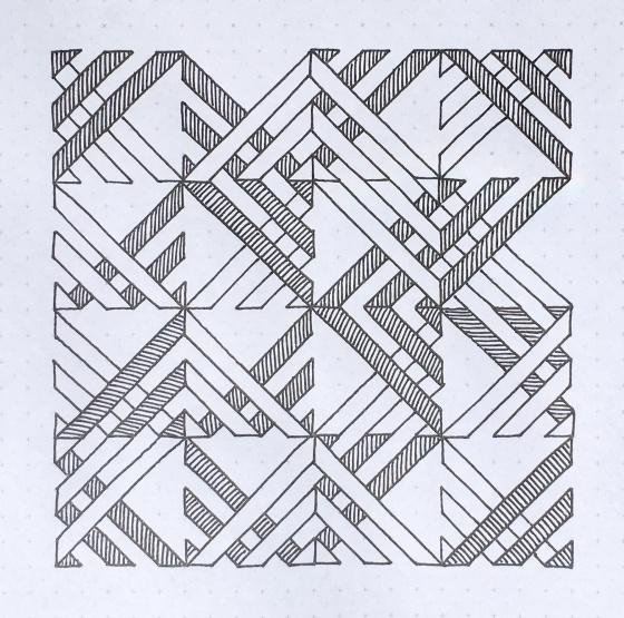 Geometriquilt: Sunday sketch #73