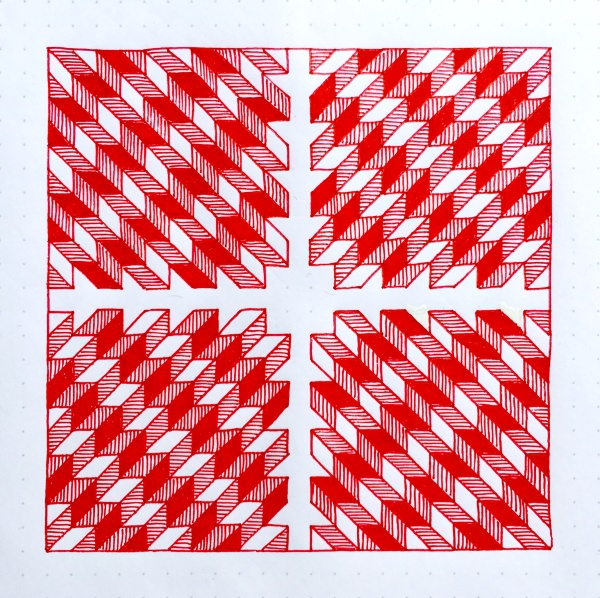 Geometriquilt: Sunday sketch #79