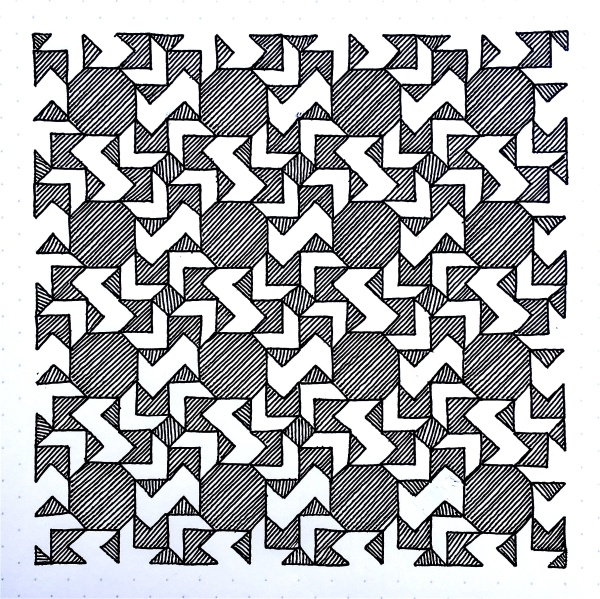 Geometriquilt: Sunday sketch #81-2