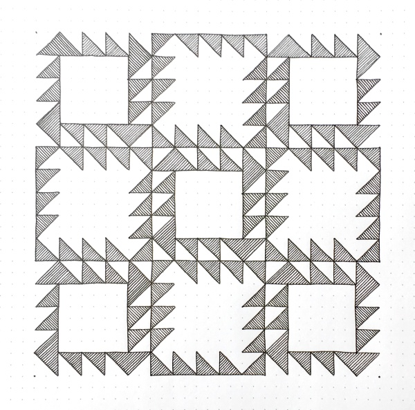 Geometriquilt: Sunday sketch #82