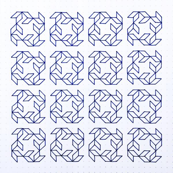 Geometriquilt: Sunday sketch #82