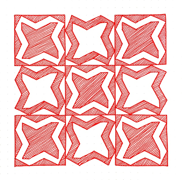 Geometriquilt: Sunday sketch #83-1
