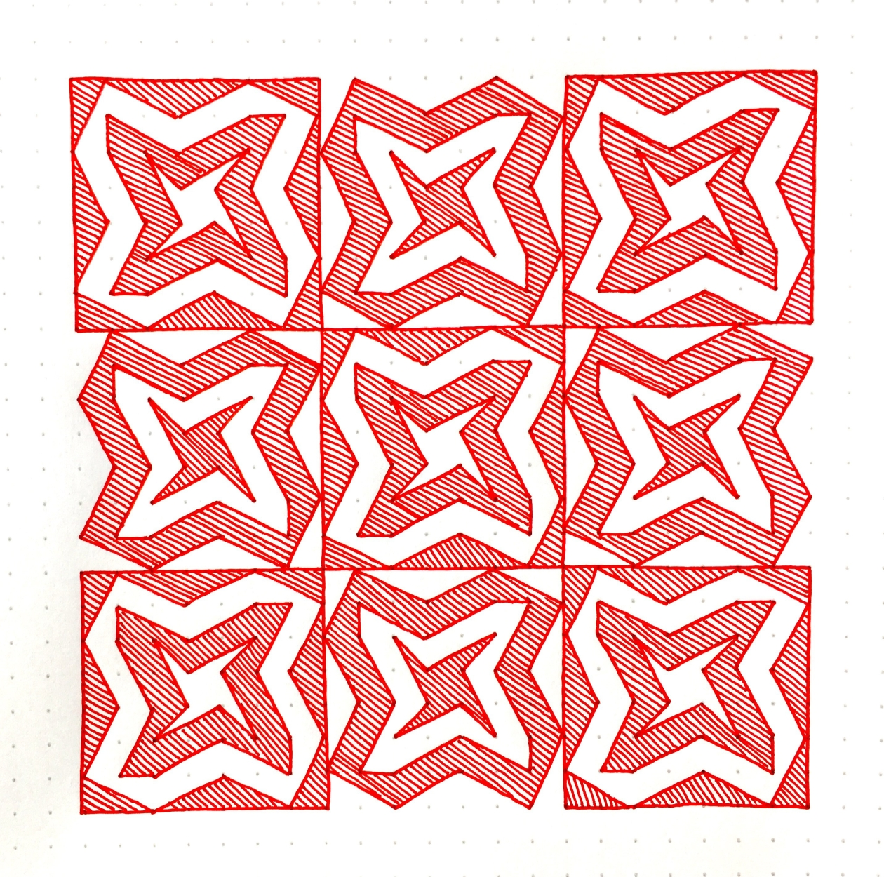 Geometriquilt: Sunday sketch #83-2