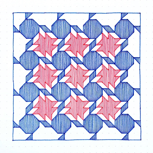 Geometriquilt: Sunday sketch #83-3