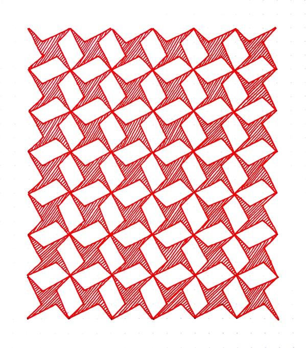 Geometriquilt: Sunday sketch #84-1