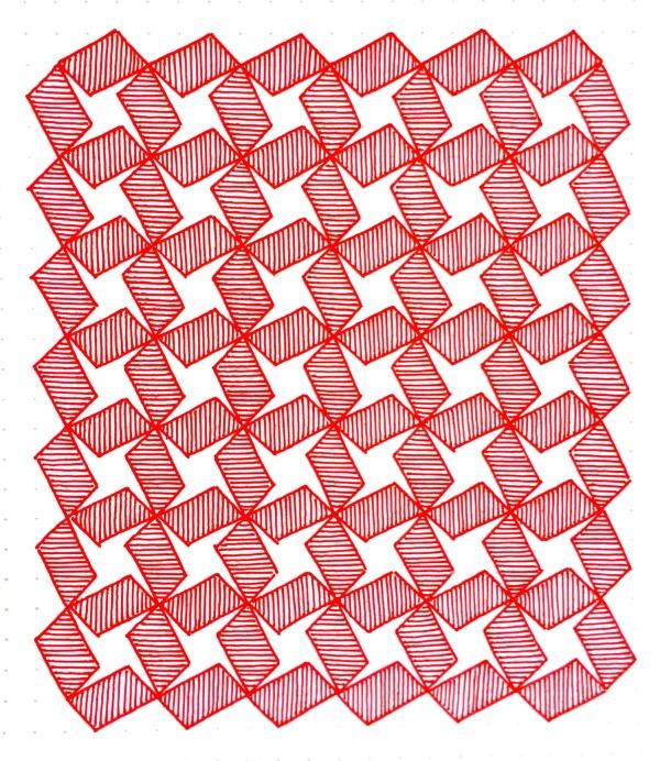 Geometriquilt: Sunday sketch #84-2