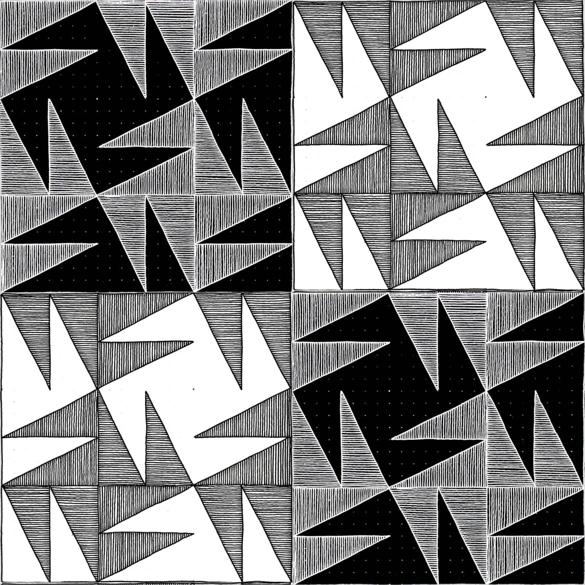 Geometriquilt: Sunday sketch #90-3