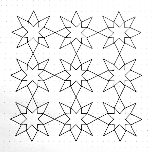 Geometriquilt: Sunday sketch #95