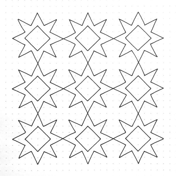 Geometriquilt: Sunday sketch 96-2