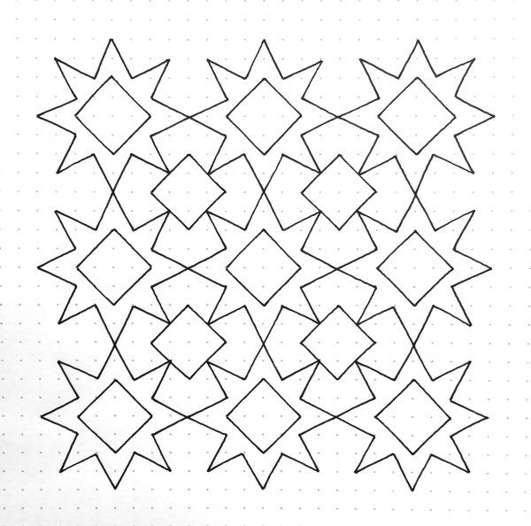 Geometriquilt: Sunday sketch 96-3