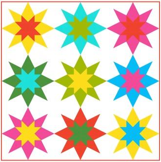 Geometriquilt: Sunday sketch #95-3