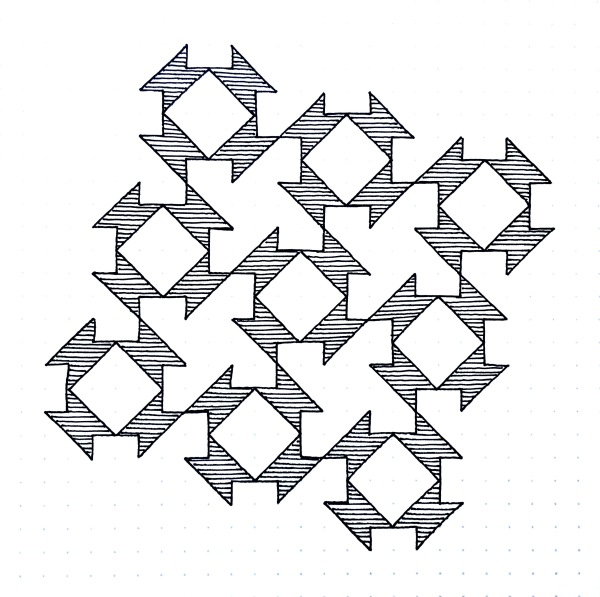 Geometriquilt: Sunday sketch #101-1
