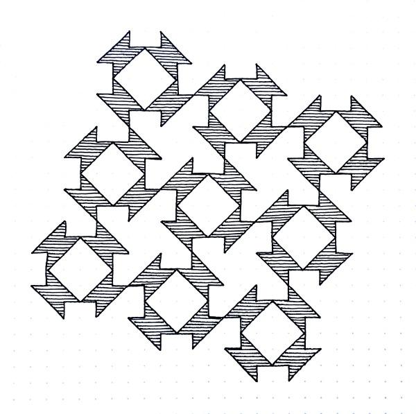 Geometriquilt: Sunday sketch #101-1