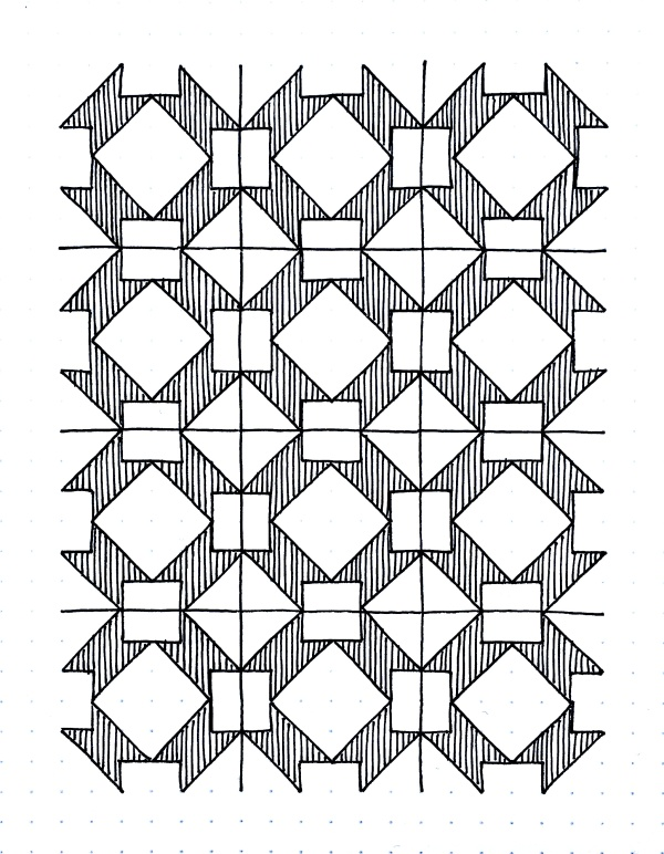 Geometriquilt: Sunday sketch #101-2