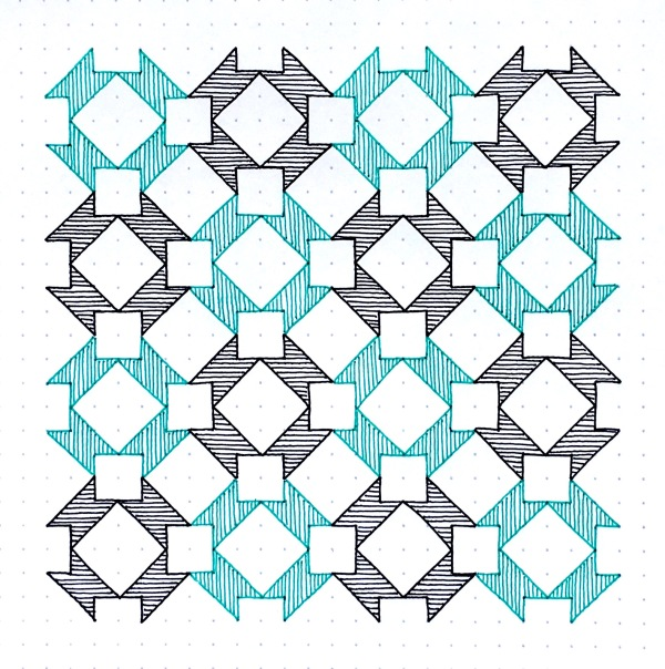 Geometriquilt: Sunday sketch #101-3