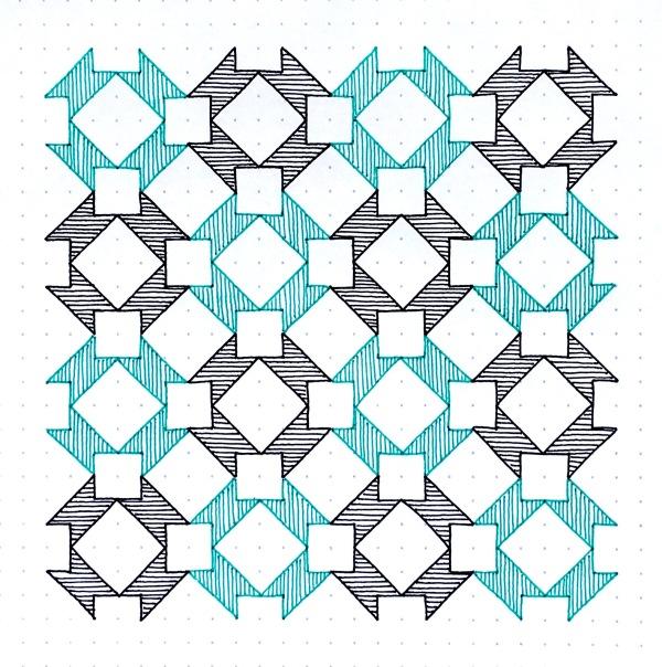 Geometriquilt: Sunday sketch #101-3