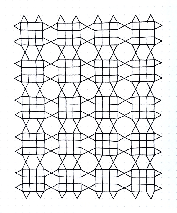 Geometriquilt: Sunday sketch #105-1