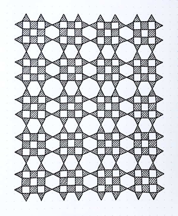 Geometriquilt: Sunday sketch #105-2