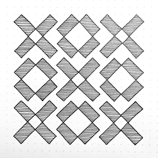 Geometriquilt: Sunday sketch #97