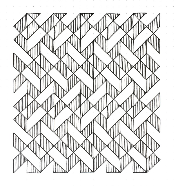 Geometriquilt: Sunday sketch #98