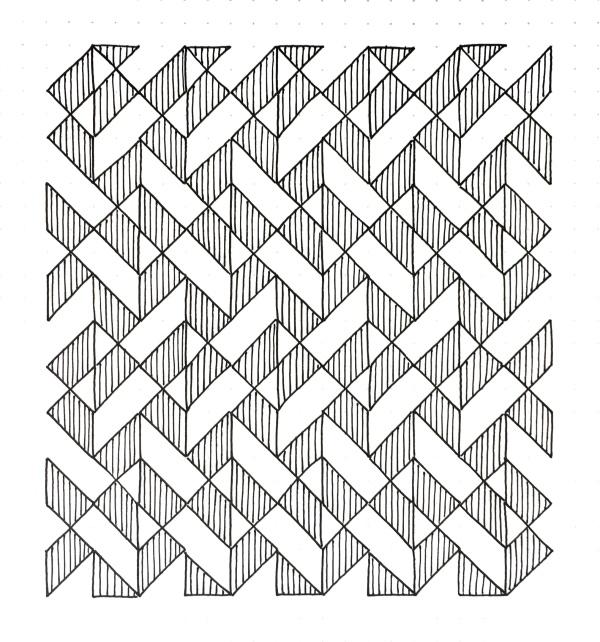 Geometriquilt: Sunday sketch #98