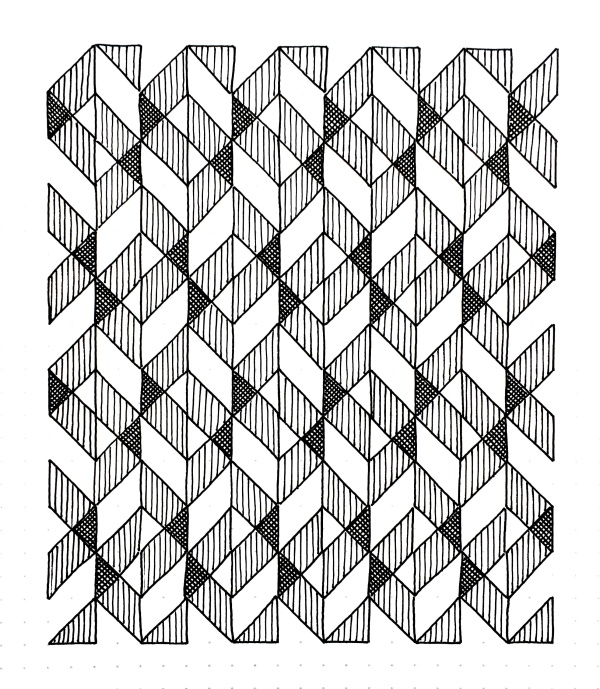 Geometriquilt: Sunday sketch #99