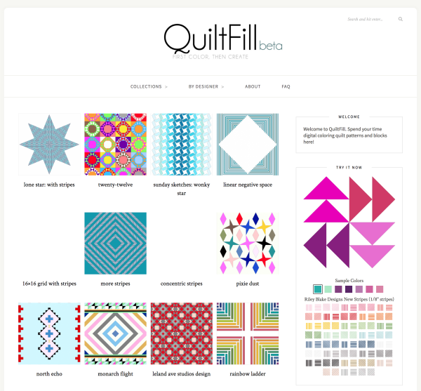 QuiltFill homepage (www.quiltfill.com)