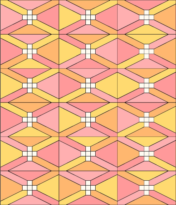 Geometriquilt: Sunday sketch #108-1