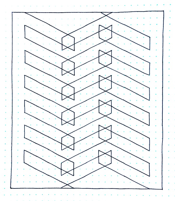 Geometriquilt: Sunday sketch #114-2
