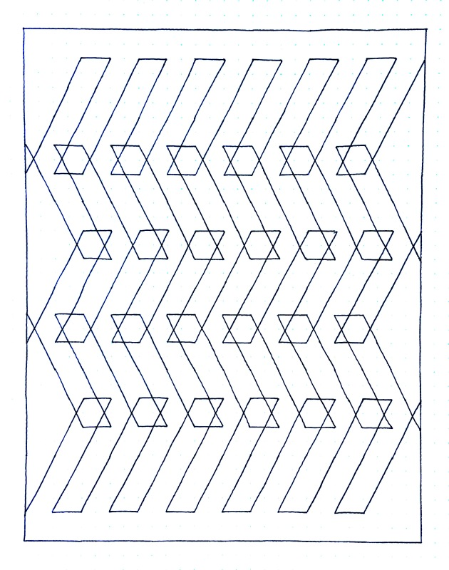 Geometriquilt: Sunday sketch #114-3