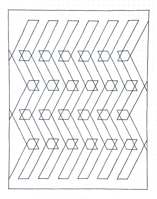 Geometriquilt: Sunday sketch #114-3