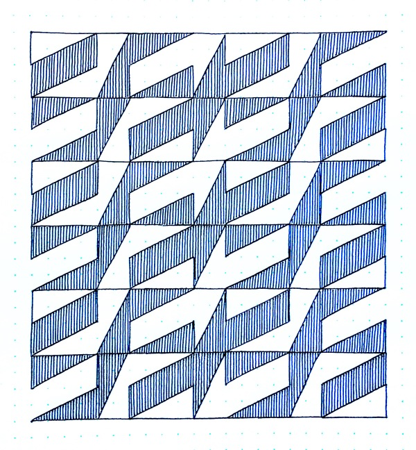 Geometriquilt: Sunday sketch #115-2