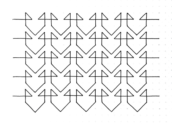 Geometriquilt: Sunday sketch #126-2