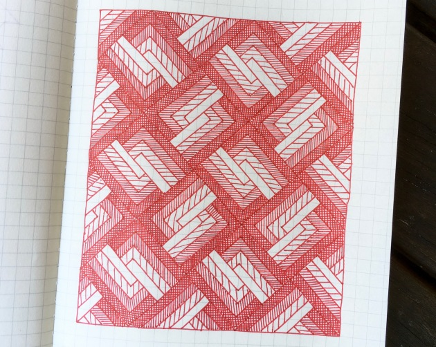 Geometriquilt: Sunday sketch #128-1