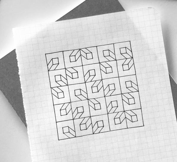 Geometriquilt: Sunday sketch #137